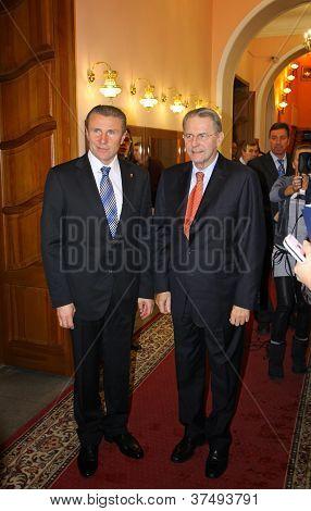 Serhii Bubka And Jacques Rogge