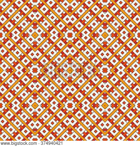 Overlapping Rectangles And Squares Background. Seamless Pattern Design With Repeated Overlay Geometr