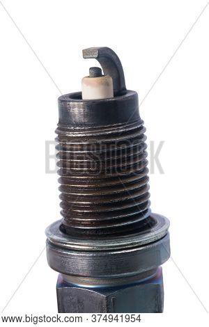 Candle Top For Car Motor, Isolated On White Background, Close-up