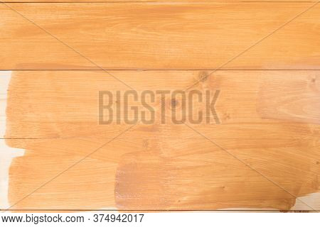 Empty Covered Wooden Surface With Dark Varnish, Background