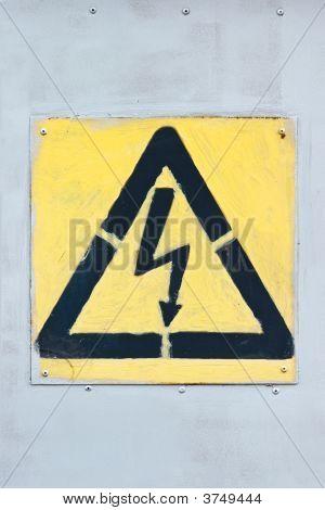 Old High Voltage Sign
