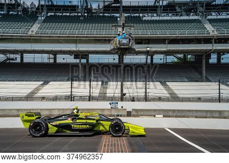 July 03, 2020 - Indianapolis, Indiana, USA: CHARLIE KIMBALL (4) of the United States practices for the GMR Grand Prix at the Indianapolis Motor Speedway in Indianapolis, Indiana.