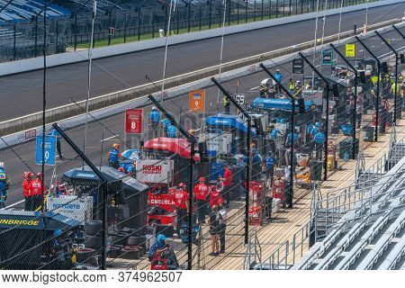 July 03, 2020 - Indianapolis, Indiana, USA: The NTT INDYCAR SERIES teams take to the track to qualify for the GMR Grand Prix at Indianapolis Motor Speedway in Indianapolis Indiana.