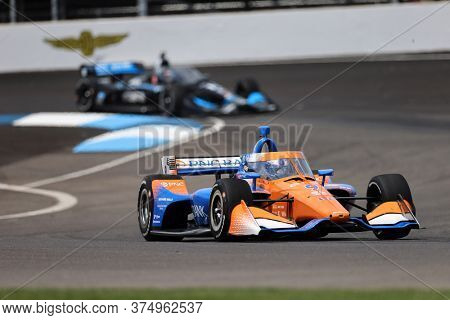 July 03, 2020 - Indianapolis, Indiana, USA: SCOTT DIXON (9) of Auckland, New Zealand  practices for the GMR Grand Prix at the Indianapolis Motor Speedway in Indianapolis, Indiana.