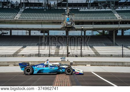 July 03, 2020 - Indianapolis, Indiana, USA: GRAHAM RAHAL (15) of the United States practices for the GMR Grand Prix at the Indianapolis Motor Speedway in Indianapolis, Indiana.