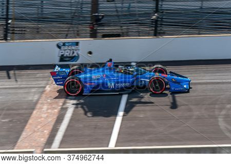 July 03, 2020 - Indianapolis, Indiana, USA: SANTINO FERRUCCI (18) of the United States  qualifies for the GMR Grand Prix at Indianapolis Motor Speedway in Indianapolis, Indiana.