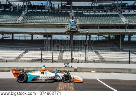 July 03, 2020 - Indianapolis, Indiana, USA: COLTON HERTA (88) of The United States practices for the GMR Grand Prix at the Indianapolis Motor Speedway in Indianapolis, Indiana.