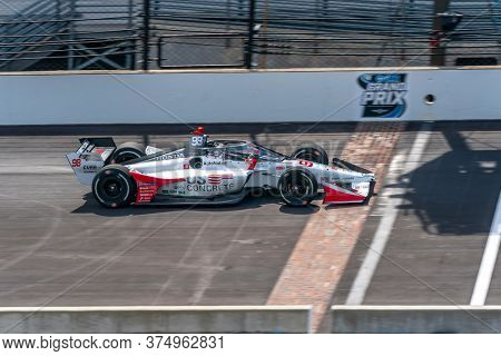 July 03, 2020 - Indianapolis, Indiana, USA: MARCO Andretti (98) of the United States  qualifies for the GMR Grand Prix at Indianapolis Motor Speedway in Indianapolis, Indiana.
