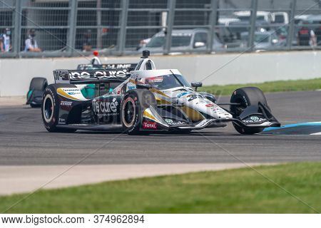 July 04, 2020 - Indianapolis, Indiana, USA: TAKUMA SATO (30) of Tokyo, Japan  races through the turns during the  race for the GMR Grand Prix at Indianapolis Motor Speedway in Indianapolis, Indiana.