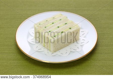 homemade traditional cucumber sandwich isolated