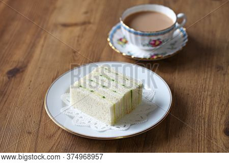 traditional cucumber sandwich and tea
