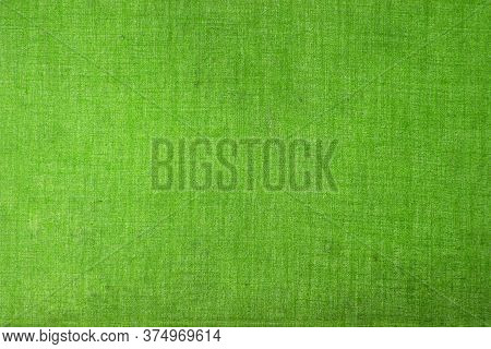 Green Vintage Plain Fabric Background Suitable For Any Graphic Design, Poster, Website, Banner, Gree