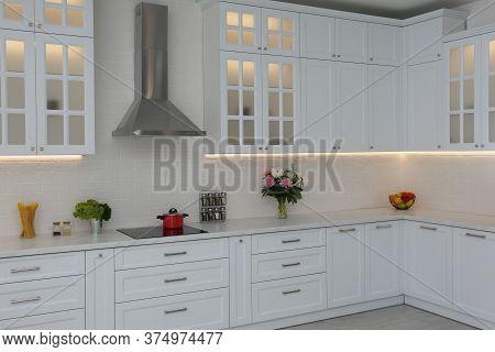 Elegant Interior Of New Kitchen With Stylish Furniture