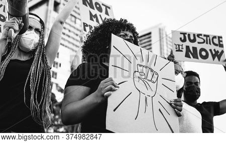 Black Lives Matter International Activist Movement Protesting Against Racism And Fighting For Justic