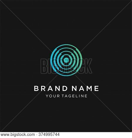 Letter O Logo Design Template,technology Abstract Dot Connection Vector Logo Icon Circle Logotype