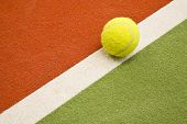 Close up of an indoor tennis court poster