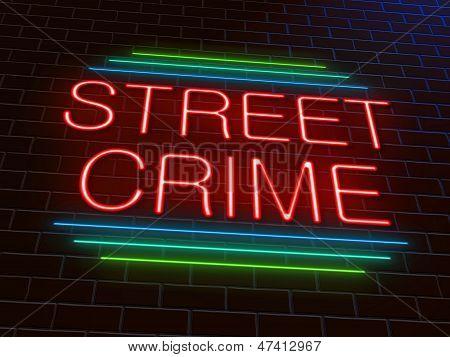 Street Crime Concept.