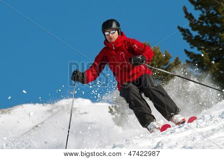 Skiing In Fresh Powder