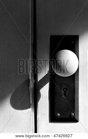 Black And White Antique Door Knob
