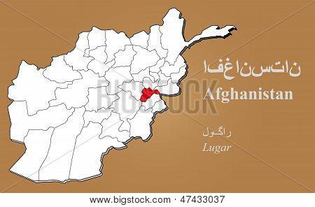 Afghanistan Lugar Highlighted