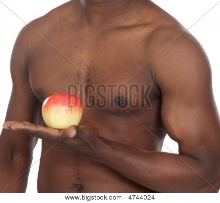 Healthy Man With Apple