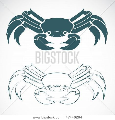 Vector afbeelding van een krab