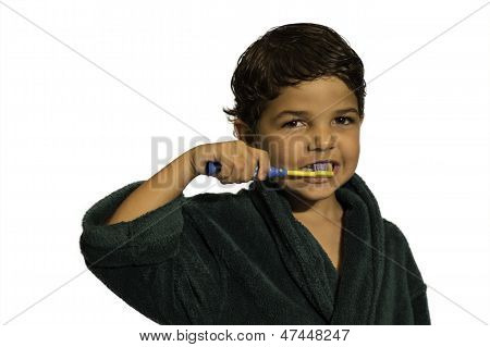 Child - Brushing Teeth