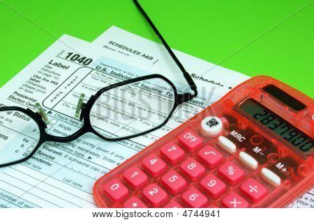 Tax Forms Eyeglasses Calculator