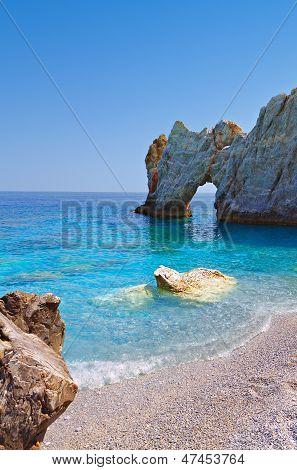 Lalaria beach at Skiathos, Greece