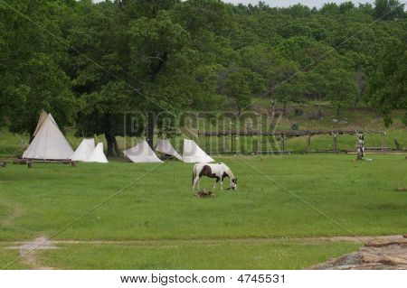 Teepees & Horse