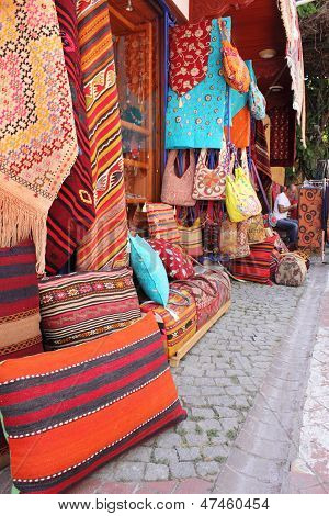 Colourful fabrics and textiles