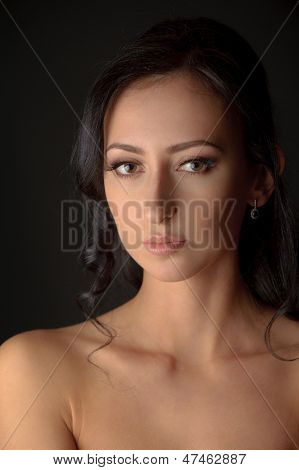 Portrait Of Young Attractive Brunnete Woman