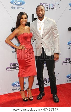 LOS ANGELES - JUN 30: Gabrielle Union, Dwyane Wade at the 2013 BET Awards at Nokia Theater L.A. Live on June 30, 2013 in Los Angeles, California