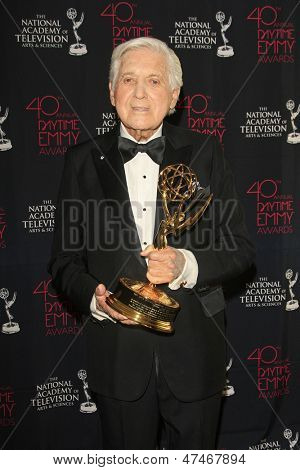 BEVERLY HILLS - JUN 16: Monty Hall with The Lifetime Achievement Award at the 40th Annual Daytime Emmy Awards at The Beverly Hilton Hotel on June 16, 2013 in Beverly Hills, California