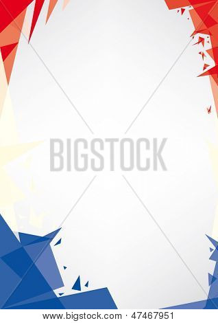 background origami of France. a design background (Origami style) for a very nice french poster