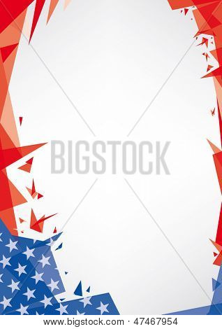 background origami of USA. A trendy american background for your publicity (Origami style)