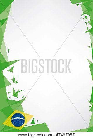 origami de fondo de Brasil. un fondo de diseño (estilo Origami) para un cartel muy bonito