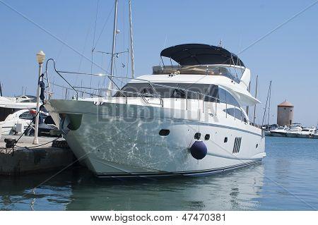 Luxury White Yacht