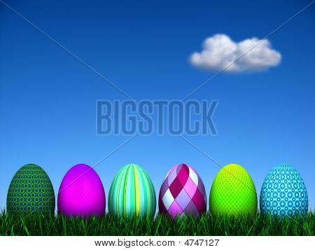 Easter Egg Background