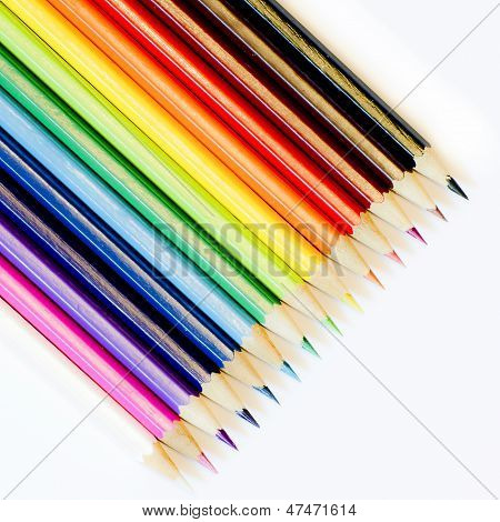 Colouring Crayon Pencils