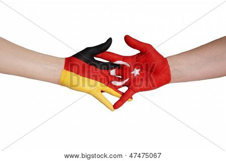 Handshake Between Turkey And Germany