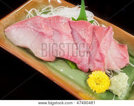 Plate Of Hamachi Sashimi