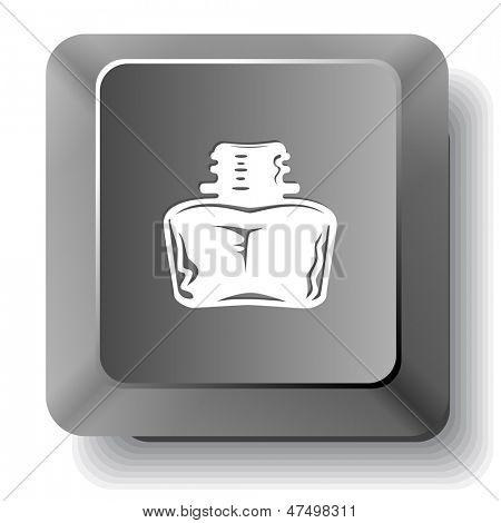 Inkstand. Raster computer key.