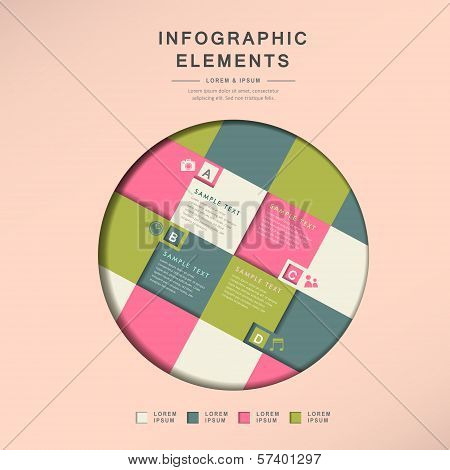 modern vector abstract circle grid infographic elements poster