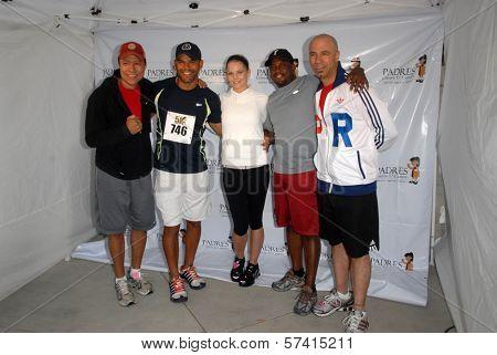 Yancy Arias, Amaury Nolasco, Jennifer Morrison, Shay Roundtree and Oskar Cartaya at the Padres Contra El Cancer Annual Stand for Hope 5K Run Walk, Rose Bowl, Pasadena, CA. 06-26-10