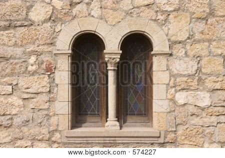 Window Of Romanesque Church