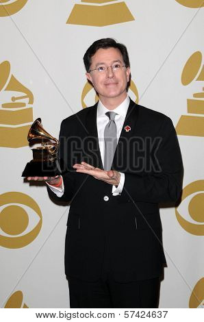 Stephen Colbert at the 52nd Annual Grammy Awards, Press Room, Staples Center, Los Angeles, CA. 01-31-10