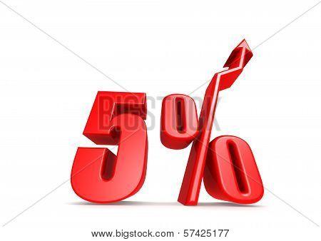 Up 5 percent