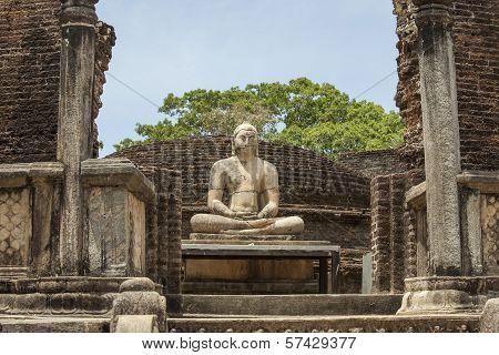 Buddha Statue In Polonnaruwa, Sri Lanka