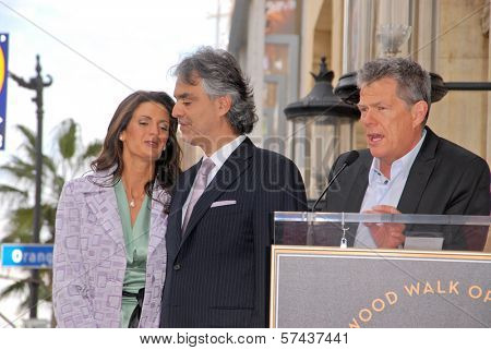 Veronica Berti, Andrea Bocellii and David Foster  at the induction ceremony for Andrea Bocelli into the Hollywood Walk of Fame, Hollywood, CA. 03-02-10